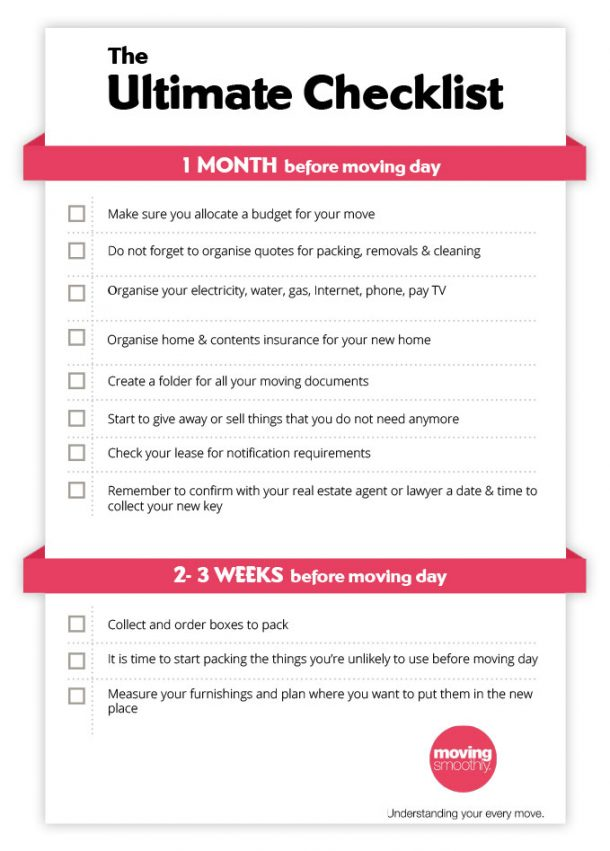 checklist - movingsmoothly